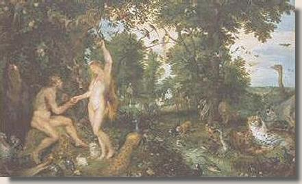 Adam and Eve in the Garden of Eden - Rubens